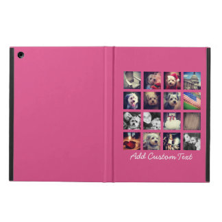 Photo Collage with Hot Pink Background - 16 pics iPad Air Cases