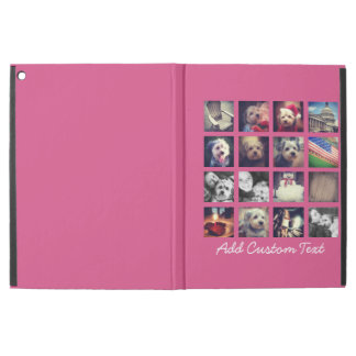 Photo Collage with Hot Pink Background - 16 pics iPad Pro Case