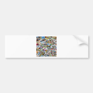 Photo collage with many pictures bumper sticker