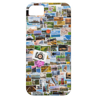 Photo collage with many pictures iPhone 5 case