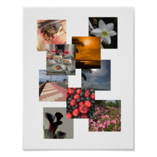 Photo Collage With No Borders Design Poster