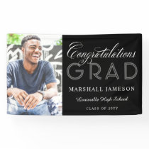 Photo Congratulations Calligraphy Graduation Banner