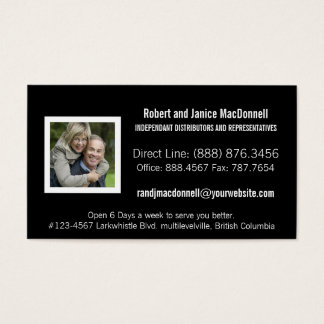 Photo Consultant Distributor or Rep Any Company Business Card