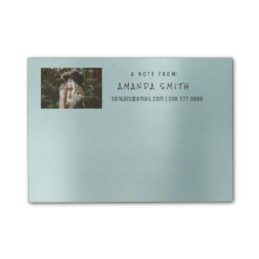 McTiffany Tiffany Aqua Photo Corporate Name Message Tiffany Aqua Blue Post-it Notes