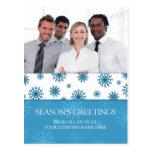Photo Corporate Season's Greetings Postcards Blue