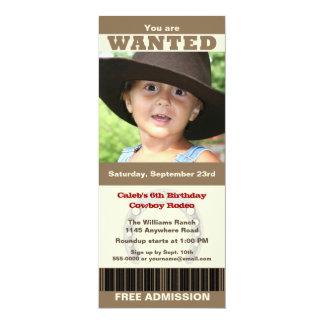 Photo Cowboy Birthday Invite