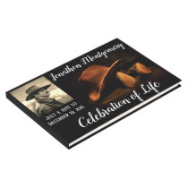 Photo, Cowboy Hat and Boots Celebration of Life Guest Book
