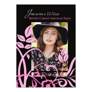 Photo Custimizable 10 Year Invitation Breast Cance