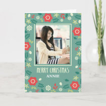 Photo Custom, Personalized Christmas Hand Drawn Card