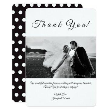 Wedding Themed Photo Custom Thank You Card