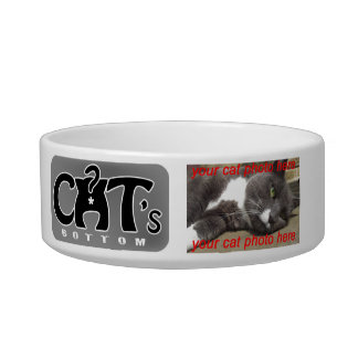 Photo Customizable Cats Bottom Feeder Bowl