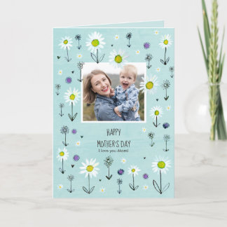 Photo | Daisy Pattern | Mother´s day Card