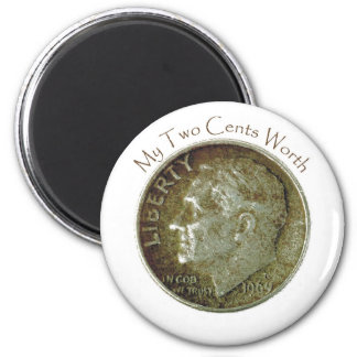 Photo Dime. 2 Inch Round Magnet