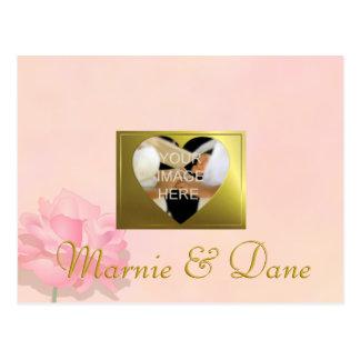 Photo DIY Wedding, Save the Date, Pink Flower Set Postcard