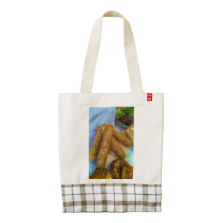 Photo drawing bread zazzle HEART tote bag