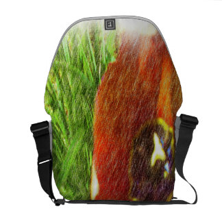 Photo drawing tulips courier bag