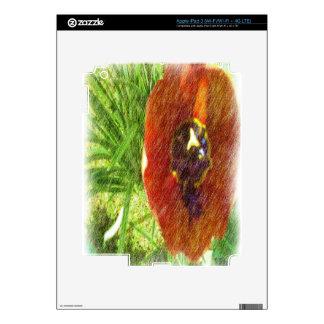 Photo drawing tulips skin for iPad 3