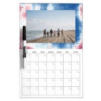 Photo Dry Erase Calendar Patriotic Tie Dye Frame Dry Erase Board