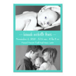 Photo Duo New Baby Announcement (Teal)