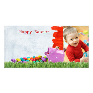 Photo easter card