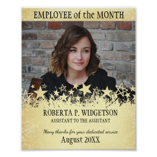 employee of the month posters photo prints zazzle