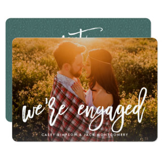 Photo Engagement Announcement & Party Invitation