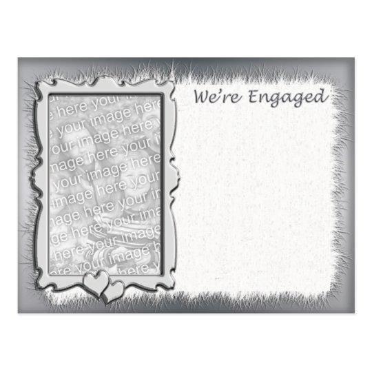 Photo Engagement Announcement Postcard
