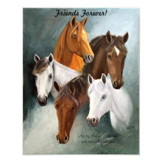 Photo enlargement, 5 Horse Heads