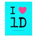 i [Love heart]  1d  i [Love heart]  1d  Photo Enlargements