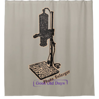 Photo Enlarger. Good Old Days. Shower Curtain