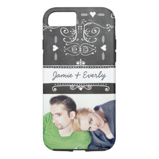 Photo Everafter Chalkboard Typography Art iPhone 7 Case