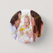 Photo Family Budget Template Pinback Button
