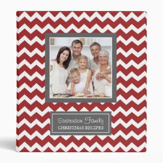 Photo Family Christmas Recipe Binder Chevron