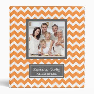 Photo Family  Recipe Binder Chevron Orange