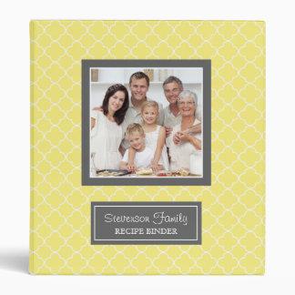 Photo Family  Recipe Binder Quatrefoil Yellow