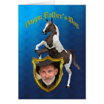Photo Father's Day card with a rearing horse