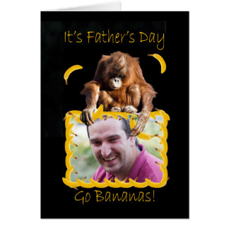 Photo Father's Day card with an orang utan
