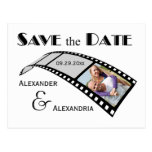 Photo Film Strip Save The Date Announcement Postcards