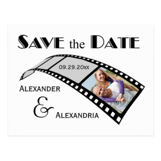 Photo Film Strip Save The Date Announcement Postcard