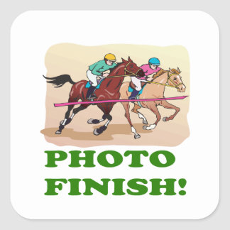 Photo Finish Square Sticker