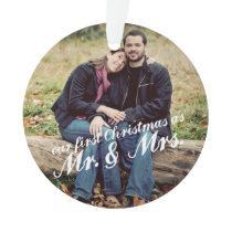 Photo First Christmas Mr. & Mrs. Ornament