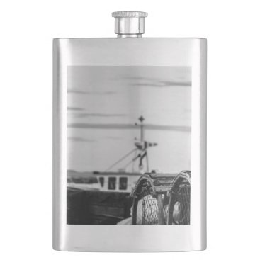 photo fishing vessel hip flask