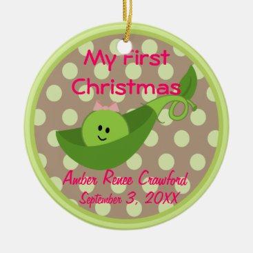 Toddler & Baby themed Photo Frame Baby Girl's 1st Christmas Ornament