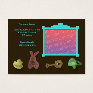 Photo Frame Birth Announcements Business Card