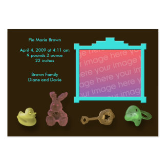 Photo Frame Birth Announcements Large Business Card