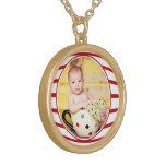 Photo Frame Medium Gold Finish Necklace