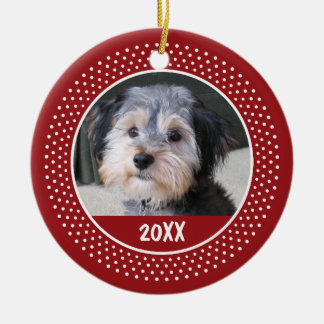Photo Frame - Pet Baby Kid or Other - SINGLE-SIDED Ceramic Ornament