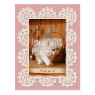 Photo frame post card of pearl