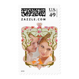 Photo frame tree postage stamps
