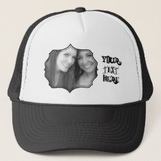 Photo Frame Trucker Hat at Zazzle